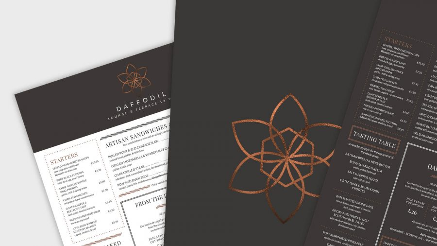 Daffodil Menu & Brochure Design